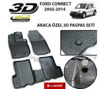 Ford Connect 3D Paspas Seti Connect Havuzlu Bariyerli 3D Paspas