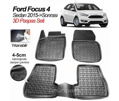 Ford Focus 4 Sedan 3D Oto Paspas 2015 A+Kalite
