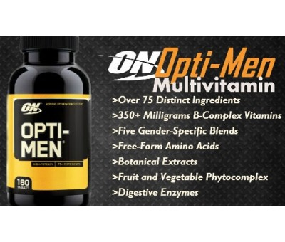 Opti-Men Optimen Optimum Nutrition Multivitamin 90 Tablet