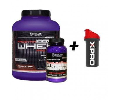 Ultimate Whey Protein Tozu 2390 gr+Ultimate Creatine+Shaker